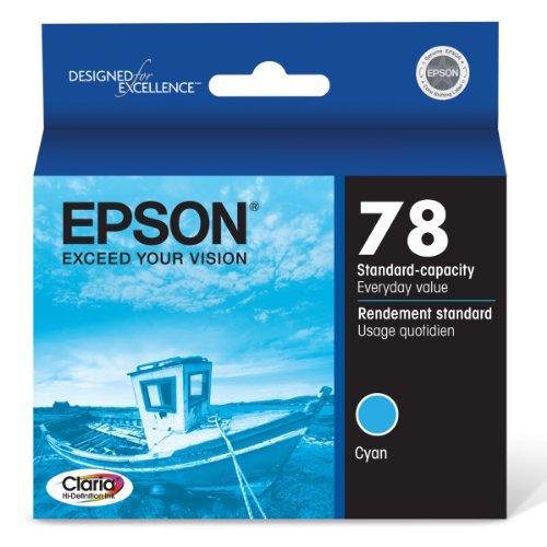 (Epson Claria Hi-Definition 78 Standard-capacity Inkjet Cartridge (Cyan) (T078220))