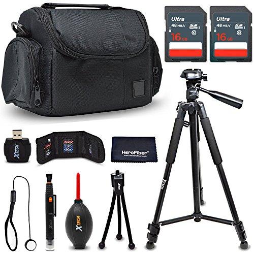 - Premium Accessories Bundle/Kit for Nikon D7500 D750 D3400 D3300 D3200 D5500 D5300 D5200 D5100 D5000 D7200 D7100 D7000 D610 D600 D60 - Includes 32GB Memory Card, Camera Case + Tripod + More