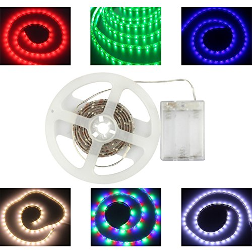 Battery Powered Led Strips Rgb 60Leds/M Waterproof Flexible