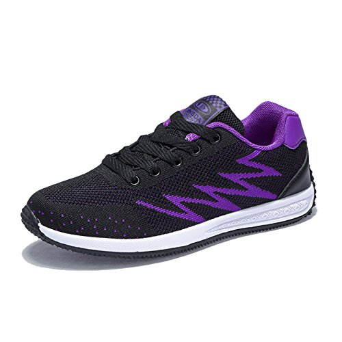 Absorber snfgoij Casual Ladies Trekking Leather Shoes Breathable Lightweight Running Running Shoes Walking Women Purple Hiking Shock Shoes PPrx7R1q