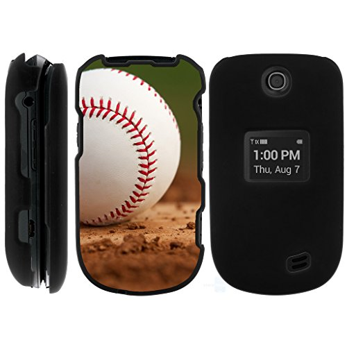 LG Revere 3 Case | VN170 [Slim Duo] Fitted 2 Piece Hard Snap On Case with Rubberized Grip Coat on Black Sports and Games Design by TurtleArmor - Baseball Dirt ()