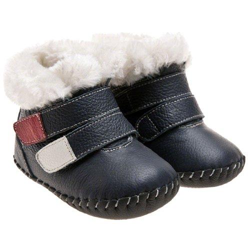 Little Blue Lamb Zapatos De Bebé Zapatos De Caminar Botas Botines azul oscuro Azul