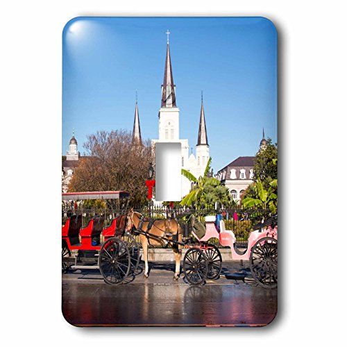 Danita Delimont - History - US, New Orleans. Jackson Square carriage rides line up in morning - Light Switch Covers - single toggle switch - Outlet New Orleans In
