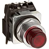 Siemens 52PT6L2A Heavy Duty Push To Test Pushbutton Unit, Illuminated, Plastic Lens, Red, 1 NO + 1 NC Contact Type, 24VAC/VDC Voltage