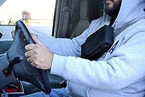 Explorer Tactical Adjustable Under Mattress Bed Seat Vehicle Car Pistol Handgun Gun Holster Holder Universal with Tactical Flashlight Loop