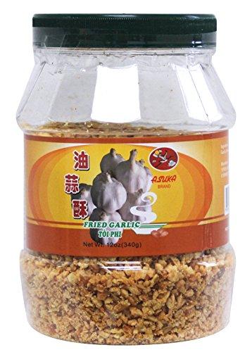 Asuka Fried Garlic 12oz (340g) Plastic Jar Crispy Chinese - Fried Garlic