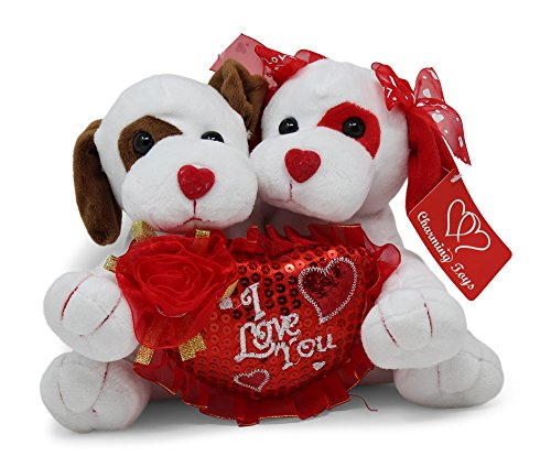 Valentines Day Gift Stuffed Plush Animals (Dogs)