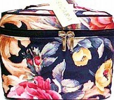Cosmetic Bags-Sicara Print Oval Train Case 14 pcs sku# 903930MA