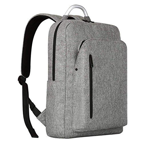 2d4b164502e3 Prime Day Sale REYLEO Backpack Slim Laptop Backpack 15.6 Men Women Business  Work Bag Rucksack Daypack With Aluminum Handle - 19L   Grey. by reyleo
