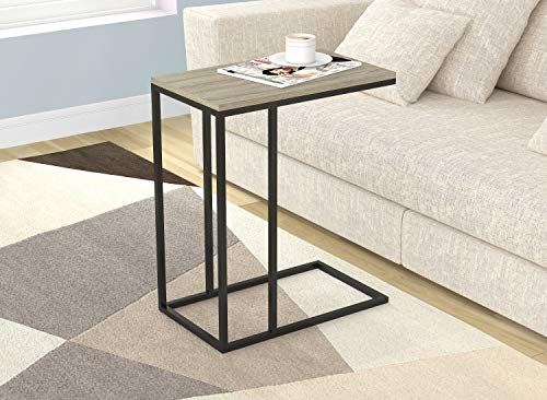 (Safdie & Co. 81037.Z.05 End Night Stand/Bedside Accent Table-Dark Taupe/Black Metal, Wood)