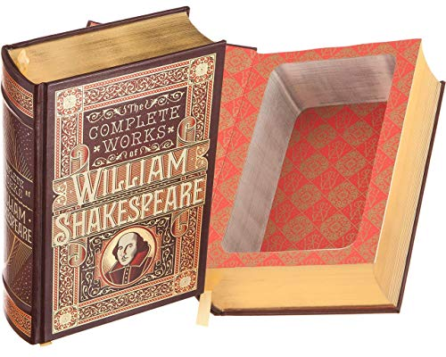 Handmade Book Safe - The Complete Works of William Shakespeare (Leather-bound) (Magnetic Closure)