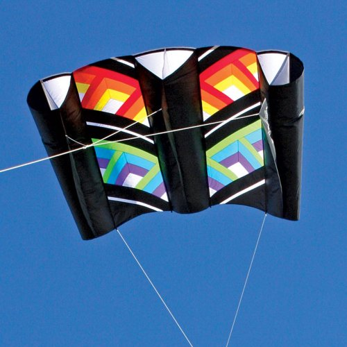 Cubic Black Rainbow Power Sled 36 Kite by Premier Kites