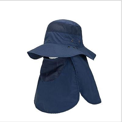 360 ° Cap Hood Hat pour hommes / femmes Pliage à séchage rapide chapeau de pêche / Cap Large bord d'escalade Cap Bonne ventilation avec volets (volet amovible) UPV> 40 Protection solaire UVA compl&e