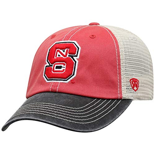 - Top of the World Adult Unisex's Offroad Snapback Mesh Back Adjustable Hat, North Carolina State Wolfpack Red, One Size