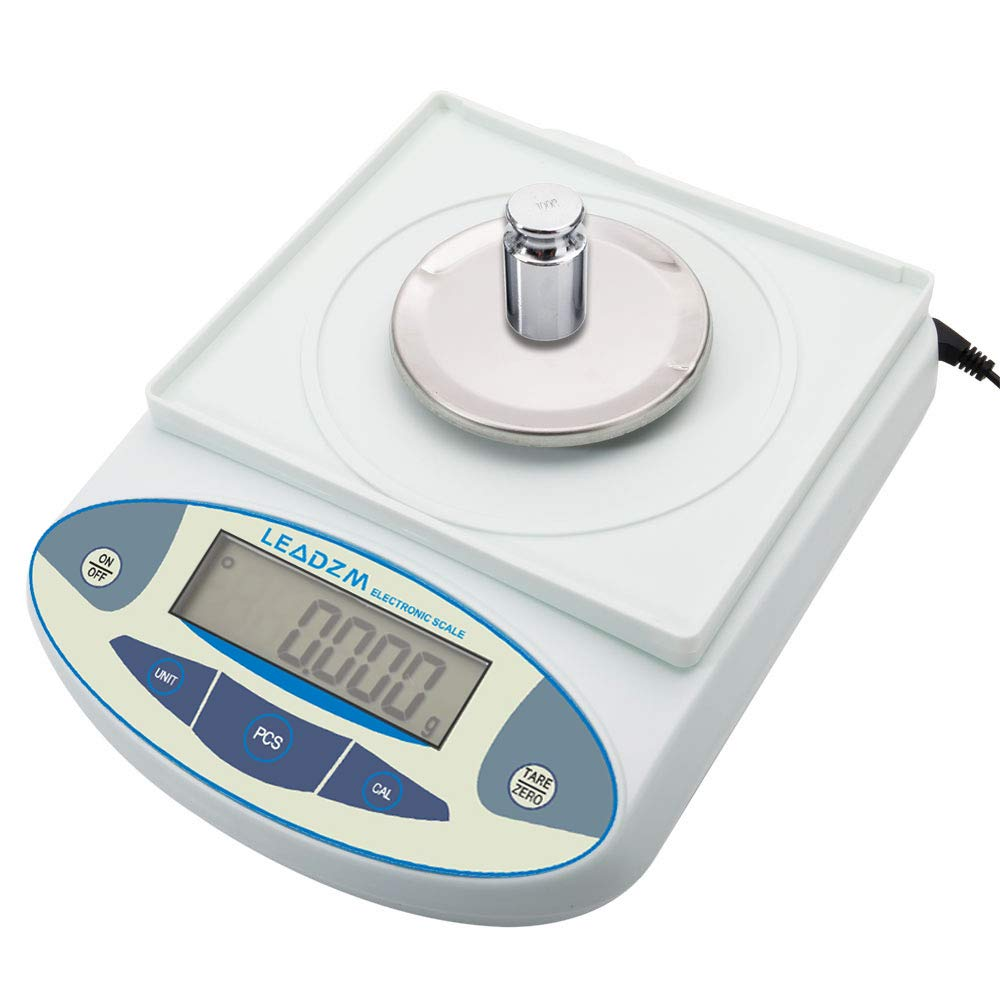 Digital Precision Analytical Balance Kitchen Multifunction Food Scale 300g x0.0001oz/ 0.001g, Scientific Laboratory Scale, Stainless Steel Weighing Pan Backlit Display (B3003T) by Alivinghome