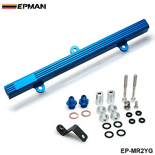 EPMAN Performance Aluminum Injection Injector Fuel Rail Kit For Toyota MR2 3S-GTE (Blue)