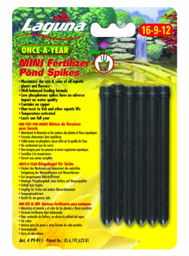 - Laguna Once-A-Year Mini Fertilizer Spike, Aquatic Plant - 6-Pack