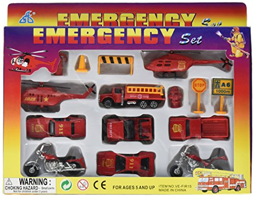 Price comparison product image Oasis Supply Fire Team & Emergency Rescue Cake Topper Kit - 15 pcs