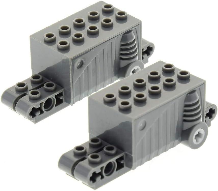 1 x Lego Technic Rückzieh Motor schwarz alt-dunkel grau 9x4x2 1//3 Aufziehmotor M