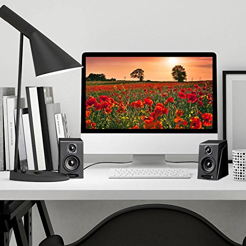 USB Powered Computer Speakers, Wired Stereo Desktop Bookshelf Laptop Speakers with Volume Control Ideal for Notebook, Laptop, PC, Desktop Tablet by Meetuo (Image #5)