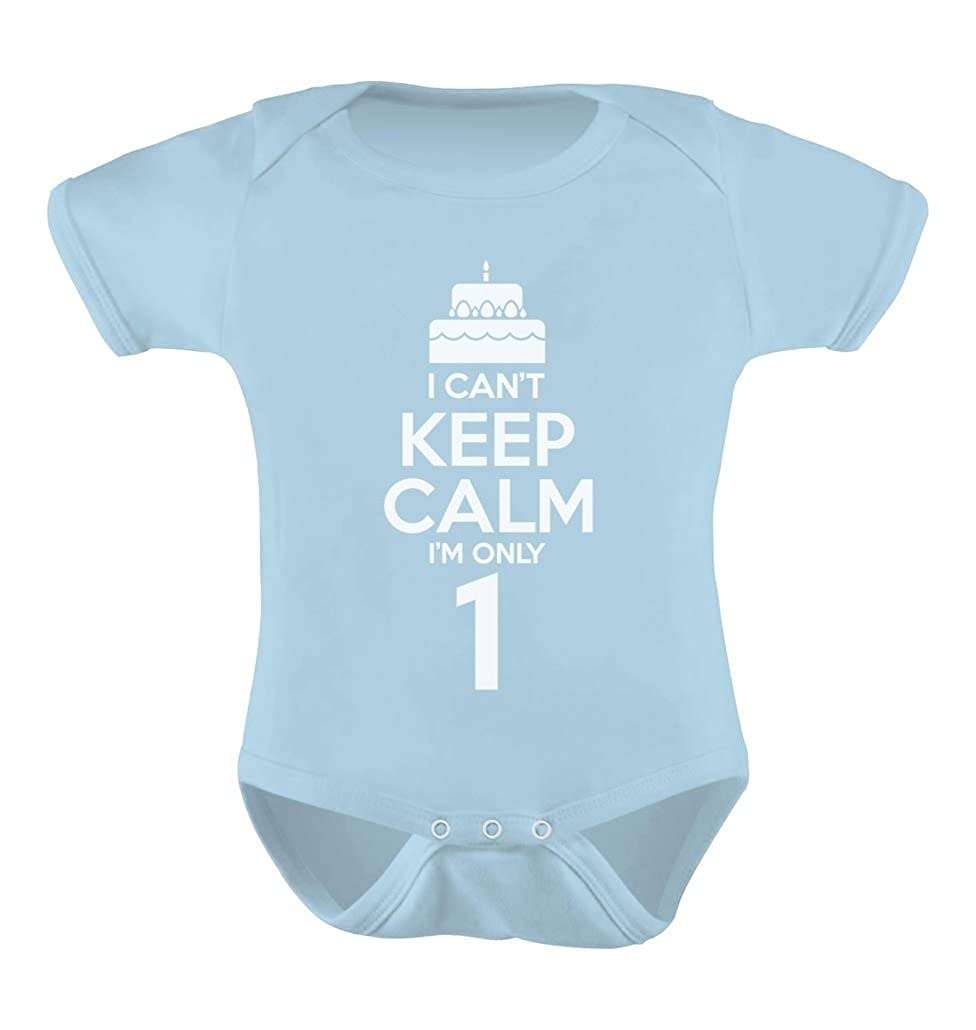 Tstars I Cant Keep Calm Im one Year 1st Birthday Boy Outfit Bodysuit Baby Onesie