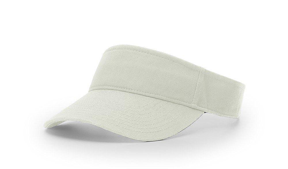 0f69a5a233f ... Richardson R45 Garment Washed Blank OSFA Sun Visor Adjustable Cap ...