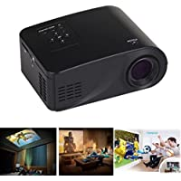 Black Home Cinema Theater Multimedia LED LCD Projector HD 1080P PC TV VGA USB HDMI