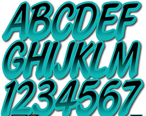 Inflatable Boats Hypalon//PVC Stiffie Whipline Silver//Black Super Sticky 3 Alpha Numeric Registration Identification Numbers Stickers Decals for Sea-Doo Spark PWC and Boats. Ribs