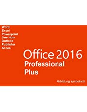 Microsoft® Office 2016 Professional Plus. Vollversion Deutsch für 1 PC (32/64-Bit) + Gratis-Installations-DVD