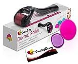 Derma Roller Kit With 540 Titanium Microneedles 0.25mm,Free Complete Starter Set  Plump, Soften, Massage,...