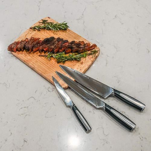 Shop LC Delivering Joy Symphony Home Japanese Kitchen Knives Set Professional Grade Stainless Steel Chef Knife Set of 3