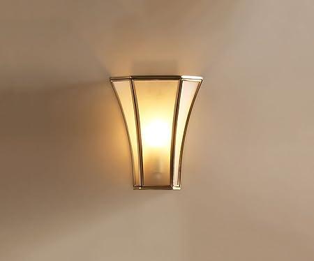 aplique pared Lámpara de pared Lámpara de cabecera Escalera Pasillo Balcón Lámpara Porche Sala de estar creativa Lámpara de pared Lámparas de cobre dormitorio Iluminación dormitorio (color : A) : Amazon.es: Hogar