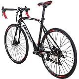 EUROBIKE Road Bike EURXC550 21 Speed 49 cm Frame 700C Wheels Road Bicycle Dual Disc Brake Bicycle