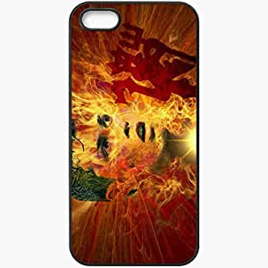 Personalized iPhone 5 5S Cell phone Case/Cover Skin Ronaldo Portugal Football Federation Wayne Rooney Cristiano Ronaldo Manchester United Football Black