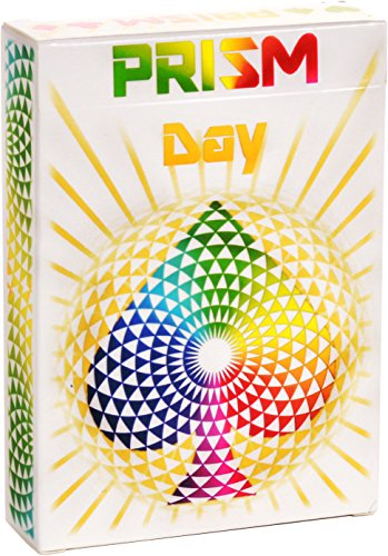 PREMIUM PLAYING CARDS, White Deck of Cards, Cool Prism Day Gloss Ink, Best Poker Cards, Unique Bright Rainbow & Red Colors for Kids & Adults, Playing Card Decks Games, Standard Size