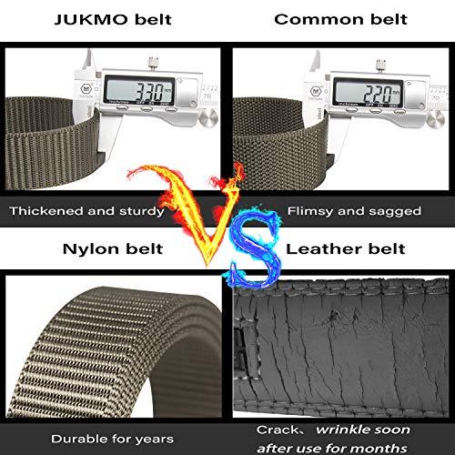JUKMO Men's Nylon Webbing Ratchet Belt with Automatic Slide Buckle