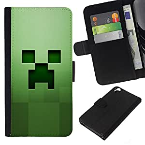 All Phone Most Case / Oferta Especial Cáscara Funda de cuero Monedero Cubierta de proteccion Caso / Wallet Case for HTC Desire 820 // Green creep