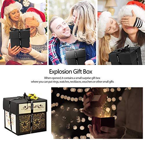 Überraschung Box,Kreative Explosion Box DIY Faltendes Fotoalbum,Geburtstag Jahrestag Valentine Hochzeit Geschenk, für Hochzeit, Muttertag, DIY Geschenk