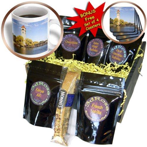 Danita Delimont - Clock Towers - WA, Spokane, Clock Tower by the Spokane River - US48 JWI1737 - Jamie and Judy Wild - Coffee Gift Baskets - Coffee Gift Basket (cgb_96046_1)
