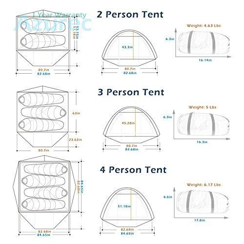 Azurec 2-3-4 Person 3 Season Double Doors Lightweight Waterproof Double Layer Backpacking  sc 1 st  C&ing Companion & Azurec 2-3-4 Person 3 Season Double Doors Lightweight Waterproof ...