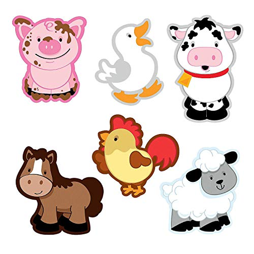 Fun Express Farm Animal Bulletin Board Cutouts - 48 pcs by Fun Express