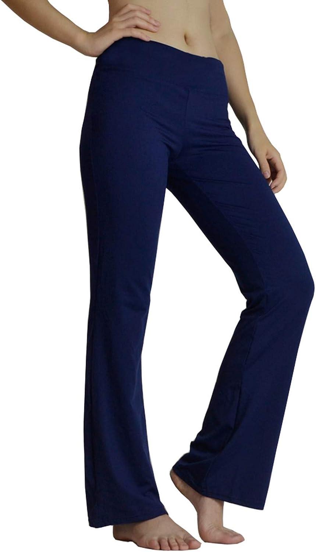 Yimoon Womens Bootcut Yoga Pants Workout Running Stretch Bootleg Pants