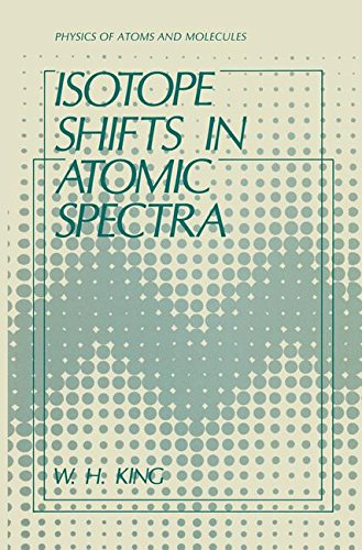 Isotope Shifts In Atomic Spectra  Physics Of Atoms And Molecules