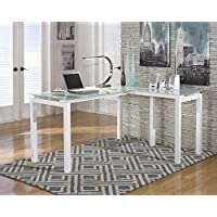 Baraga White L-Shape Home Office Desk