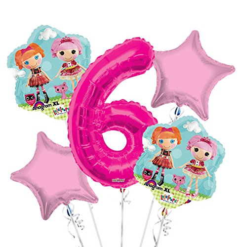 Lalaloopsy Balloon Bouquet 6th Birthday 5 pcs - Party Supplies for $<!--$9.99-->