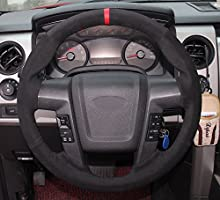 2010 F150 Accessories >> Amazon Com Eiseng Diy Steering Wheel Cover For 2010 2011