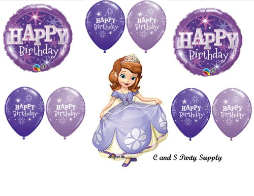 PURPLE SOFIA THE FIRST PARTY Balloons Decorations Supplies -