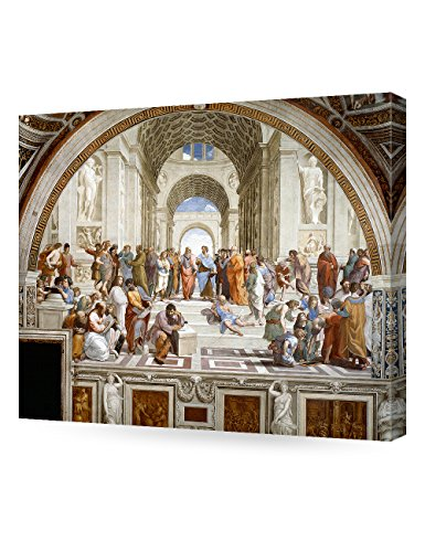 DecorArts - The School of Athens, Raphael Art Reproduction. Giclee Canvas Prints Wall Art for Home Decor 20x16
