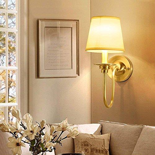 HAIZHEN Lampe Murale Style Américain Toutes Les Lampes En Bronze Et  Lanternes Feux Salon Moderne Simple