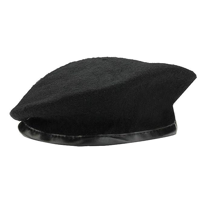 Greetuny 1X Lana Boina Hombre Moda Simple Gorra Marina Unisex Sombrero de Pintor (Negro): Amazon.es: Ropa y accesorios